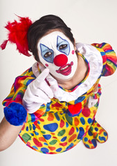 Clown Pointing