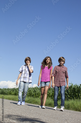 cool young friends on the road