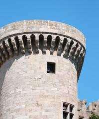 Knights castle at Rhodos Island, Greece