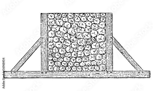 St re de bois de niakc10 fichier vectoriel libre de droits 36968454 sur - Une stere de bois ...