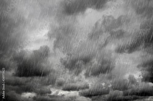 Stormy black sky