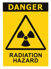Radiation hazard symbol sign of radhaz threat alert icon black
