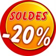 bouton soldes -20%