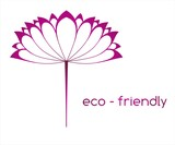 water lily , Eco friendly business logo design