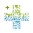 Cross shape with medical icons for your design