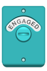 Engaged lock.