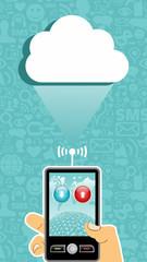 Cloud computing communication.