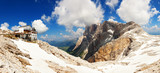 Panoramic view of high mountain in Italy