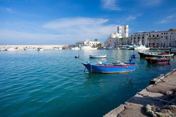 Molfetta Harbor with Duomo - Apulia, Italy