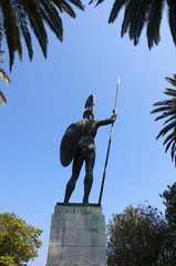 Statue of Achilles in Garden of Palace on Corfu Greece