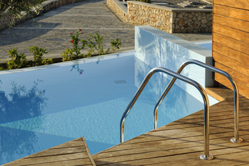 Private swimming pool outside hotel room