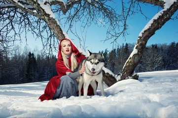 Red Hood with a wolf