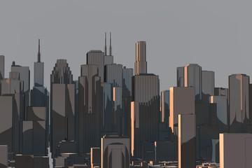 silhouette - skyline - zeichnung
