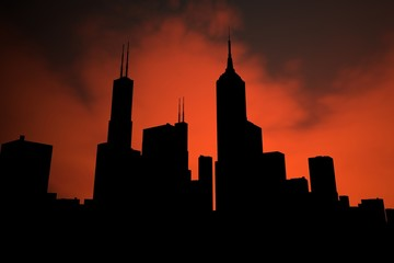silhouette - skyline