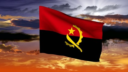 Flag of Angola (Central Africa)