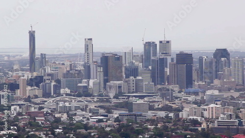 Brisbane CBD from Mt Cootha Lookout Queensland