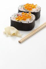 太巻き寿司イクラ載せ