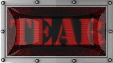 loop word on LED