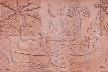 Carving of thai culture