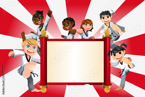 Karate kids banner - 36985030
