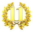 11 eleven number laurel wreath