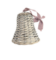 Wooden Wicker Bell