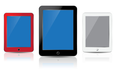 THREE TABLET PC RED, BLACK, WHITE