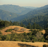 Central California scenic view of Santa Cruz Mountains