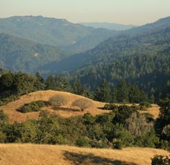 Central California scenic view of Santa Cruz Mountains