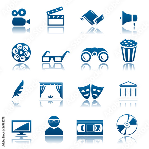 Cinema and theatre icon set