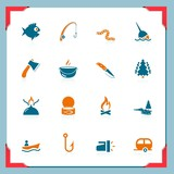 Fishing icons | In a frame series
