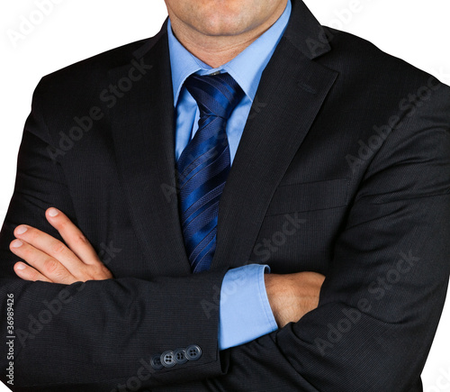 Businessman isolated on white background.