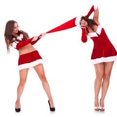 playful santa women