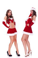 sexy santa women posing