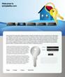 Web site design template 61