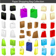 Colorful shopping bag set. Perfect for web page.