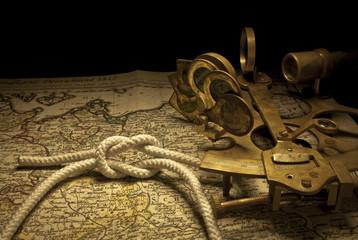 sextante y nudo marinero