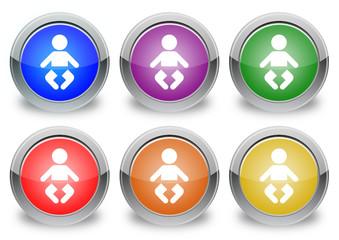 "Bebè ""6 buttons of different colors"""