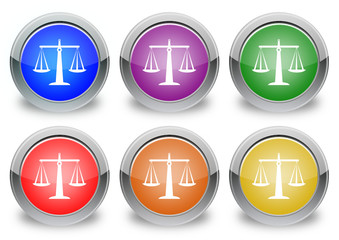 """Justice """"6 buttons of different colors"""""""