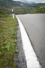 strada di montagna - striscia