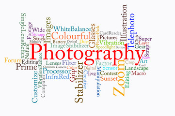photography text cloud