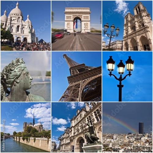 Collage monuments de Paris