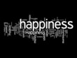 happiness text clouds
