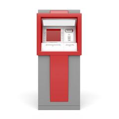 ATM on white background