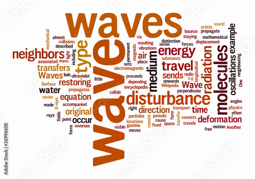 wave text clouds