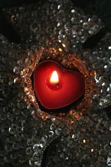 candela rossa natalizia