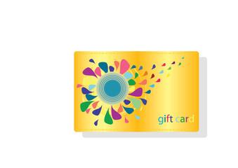 Blank golden gift card