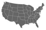 mapa spojených států