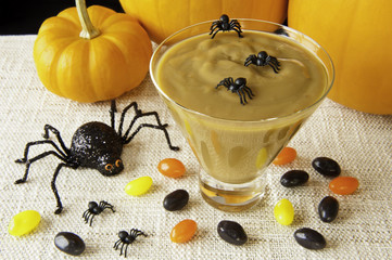 Halloween Spiders and Butterscotch Pudding