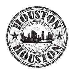 Houston grunge rubber stamp